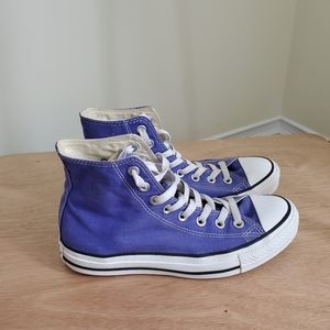 Converse Womens Purple Hightops Size 8.5